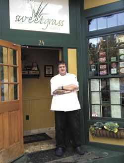 Chef Iain Falconer at the Sweet Grass Grill
