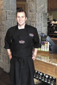 Chef Jacob Griffin at the farm to table café at Madava Farms