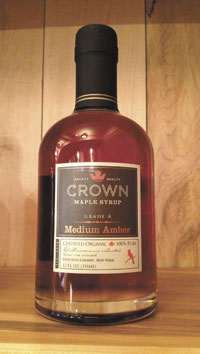 Organic, New York maple syrup