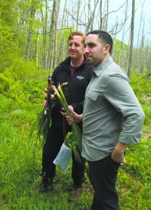 Executive Chef Jeremy McMillan and Chef de Cuisine Dan Sabia foraging on the land surrounding the Bedford Post Inn.